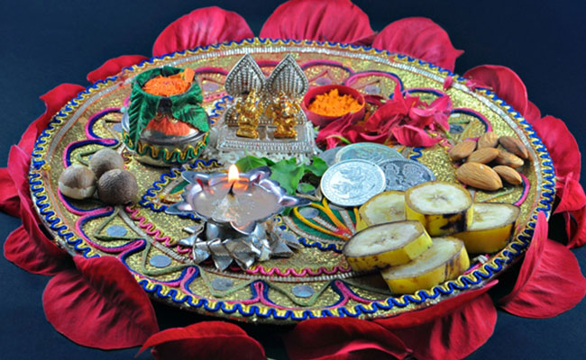 Haldi and Roli Pooja Thali Decoration