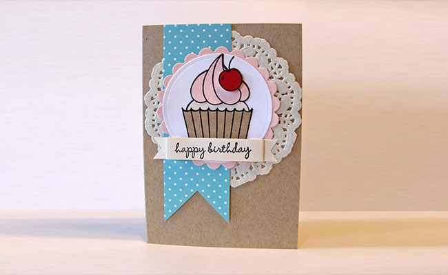 Paper Cupcake Card