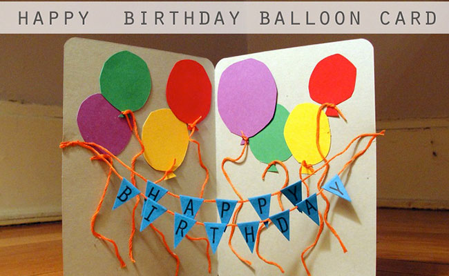String Banner & Balloon DIY Card
