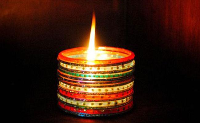 Diwali Diya made by bangle
