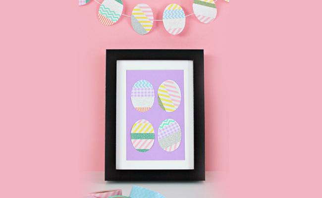Washi Tape Easter Frame