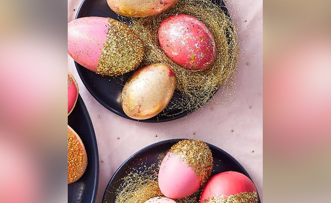 Glittery Eggshells
