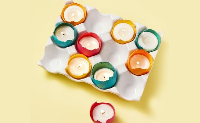 Egg-shell Candle Holders