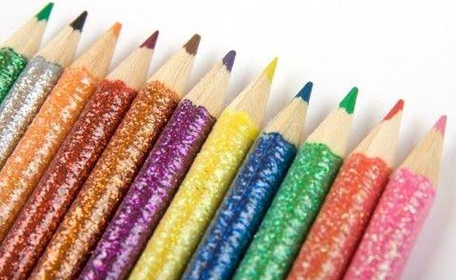Rainbow Glitter Pencils