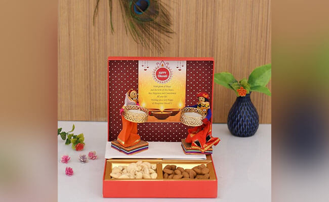 Dry Fruits with Candles