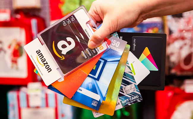 A gift card or a voucher for employee