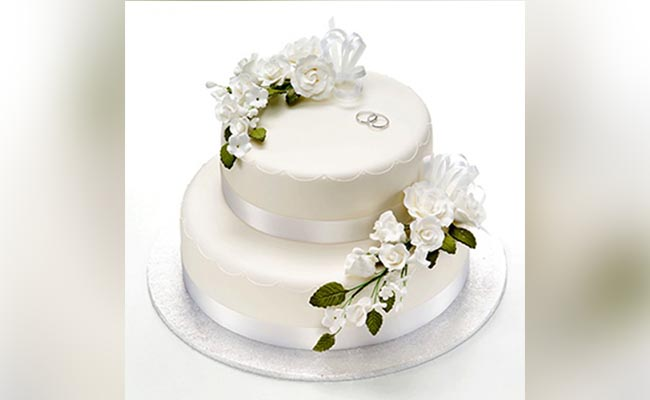 White Forest Engagement Cake