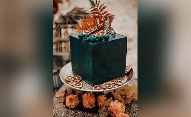 Square Tier Engagement Cake