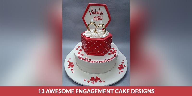 engagement cake designs