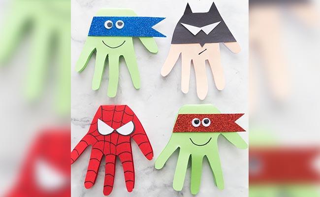 Superhero Craft Card