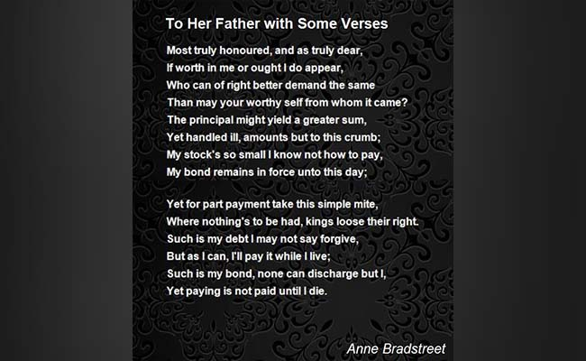 To Her Father with Some Verses