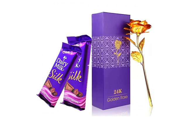 Golden rose and rich chocolate