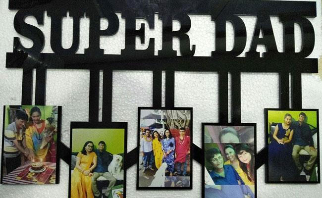 SuperDad personalised wall frame