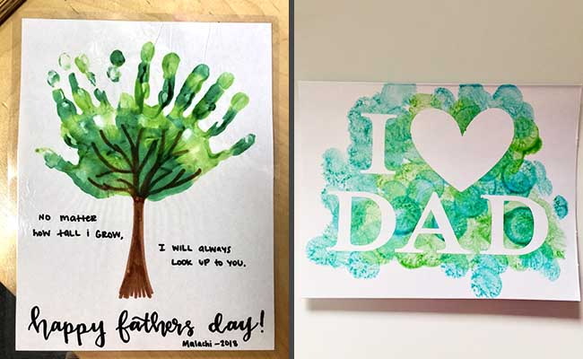 perfect fathers day painting from daughter or son