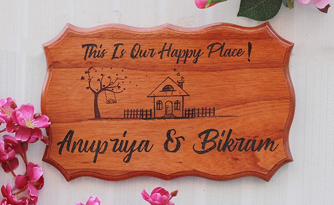 engraved nameplate for anniversary