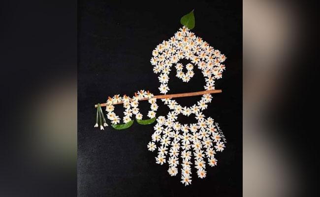 Floral krishna