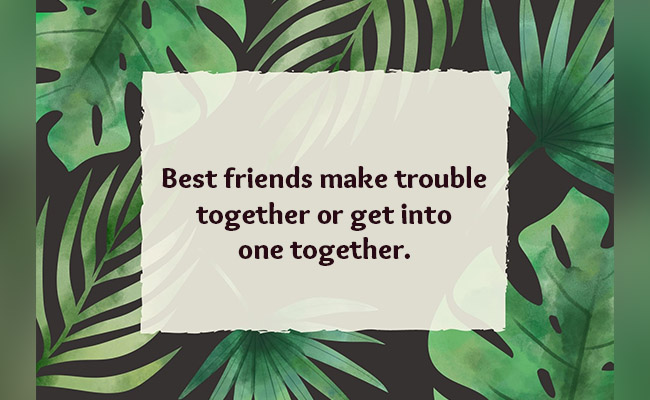 friends make trouble together or get into one together
