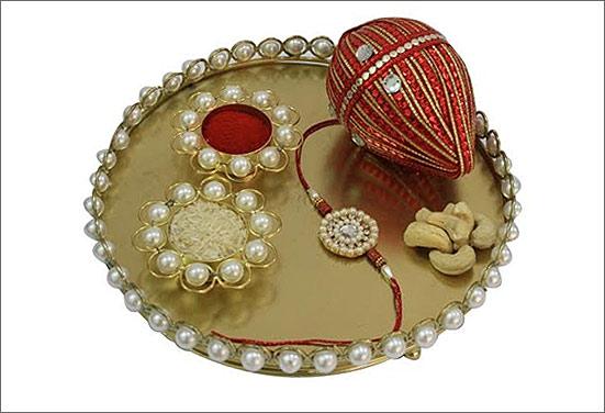 Ceramic decorative Rakhi thali