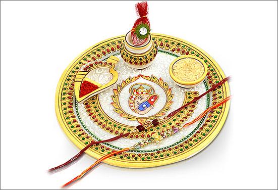 Designer Rakshabandhan thali