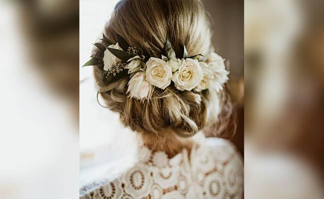 Flowers in a bun