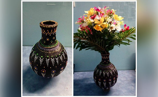 nostalgic flower vase is ready