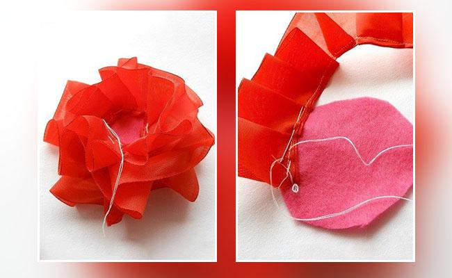 Pleated Ribbon Flower