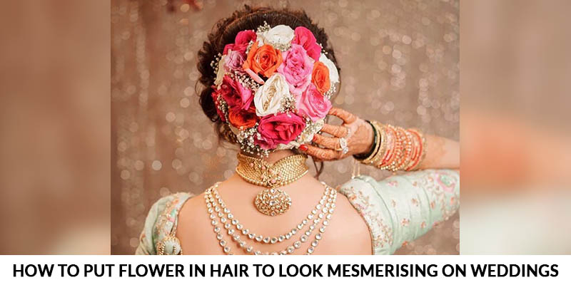 How to put flower in hair