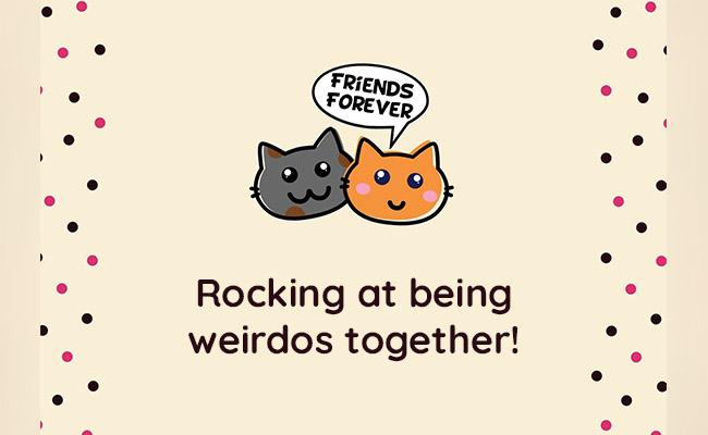 Rocking at being weirdos together