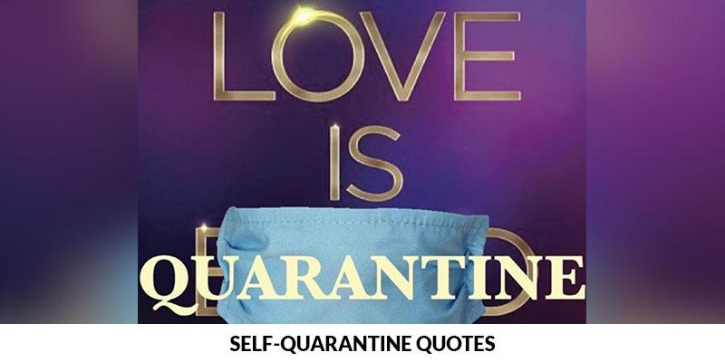 Self-quarantine Quotes