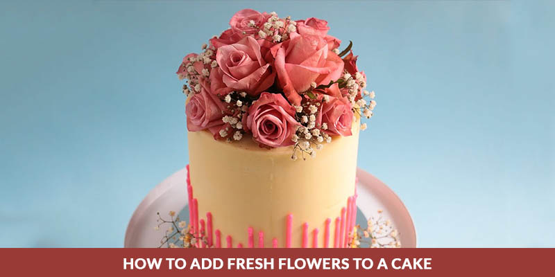 cake decoration with flowers