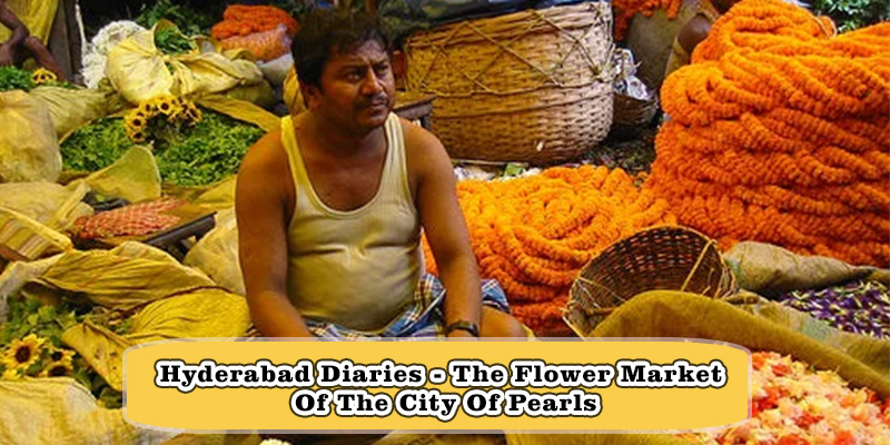 the flower market of the city hyderabad