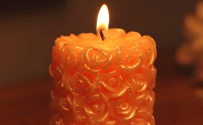 A Rose Candle