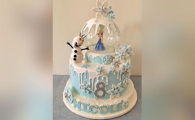 Snow Globe Elsa Frozen Cake