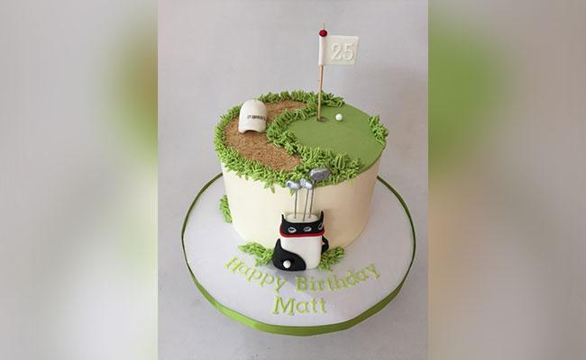 Golf Field Cake