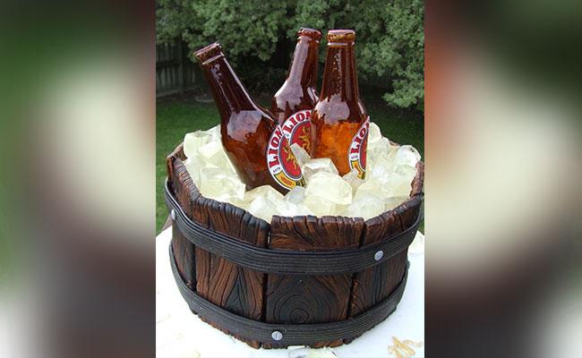 Ice Beer Bucket Cake