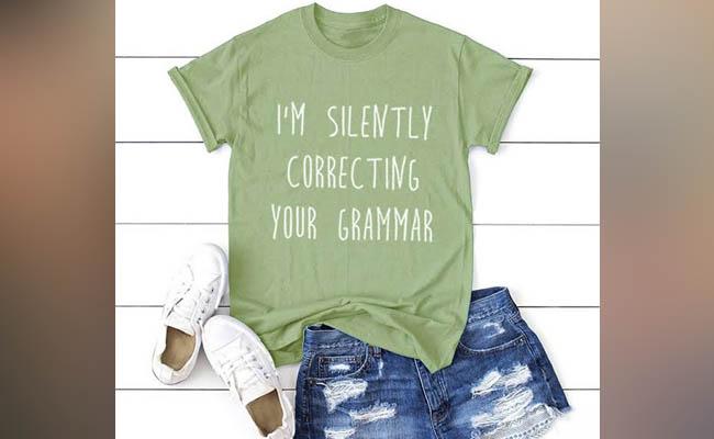 Grammar Tshirt and Badge