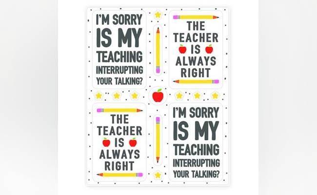 Sassy Teacher Stickers