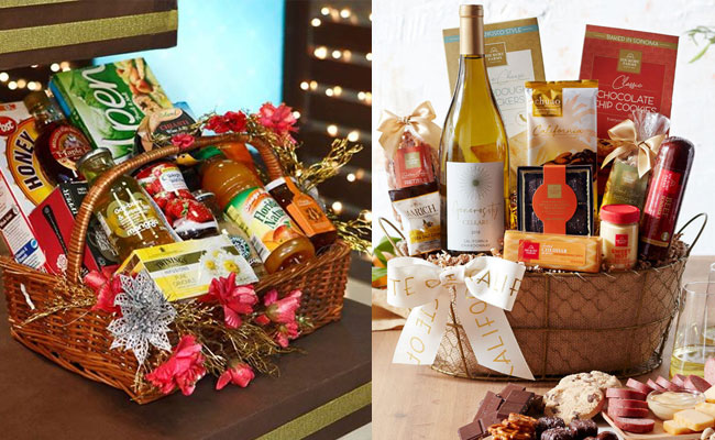 Basket Full Of Gourmet Products
