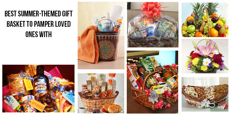best summer themed gift basket to pamper loved ones with