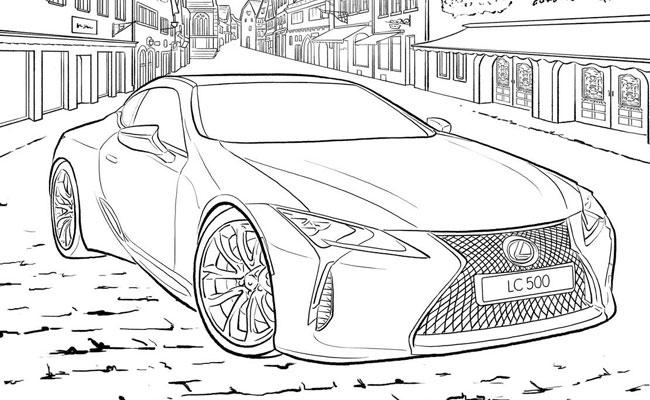 Car Sketch/ Colour Book