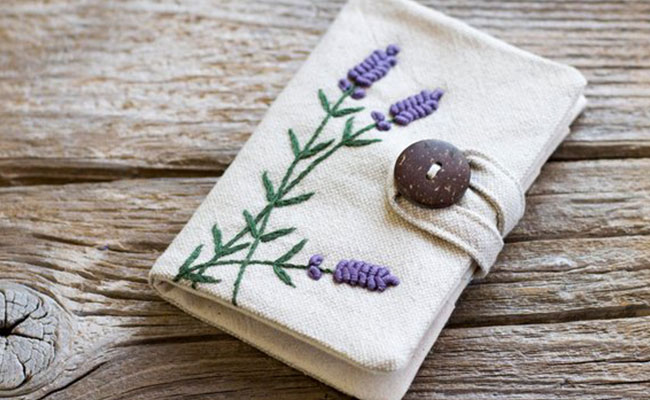 Embroidered Card Holder