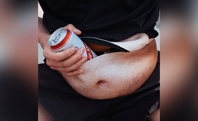 Fake Belly Fanny Pack