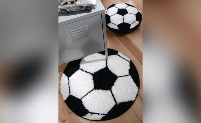 Football Shaped Rug