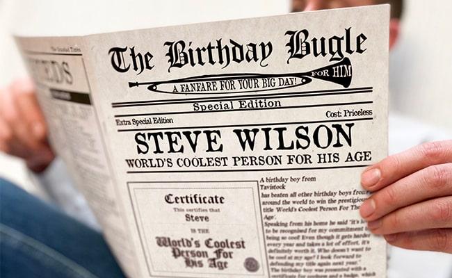 Personalised Newspaper