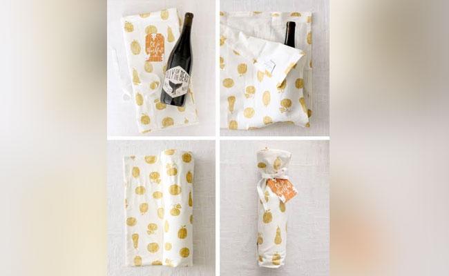 Tea towel wrap