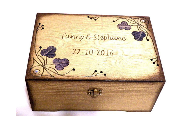 Personalized Gift Boxes With Wedding Date