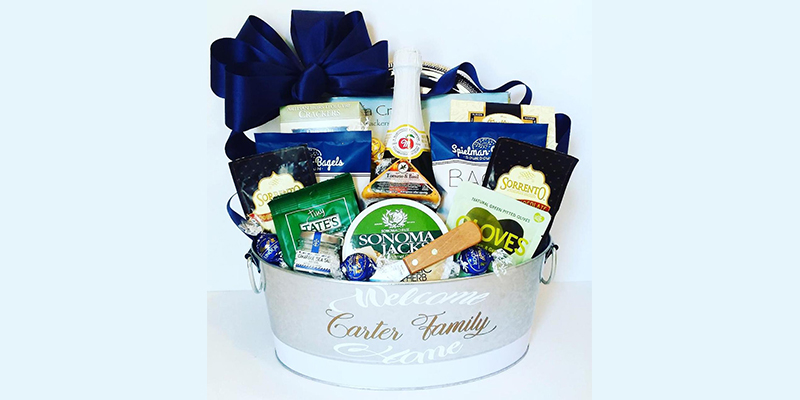 Customized gift baskets for him