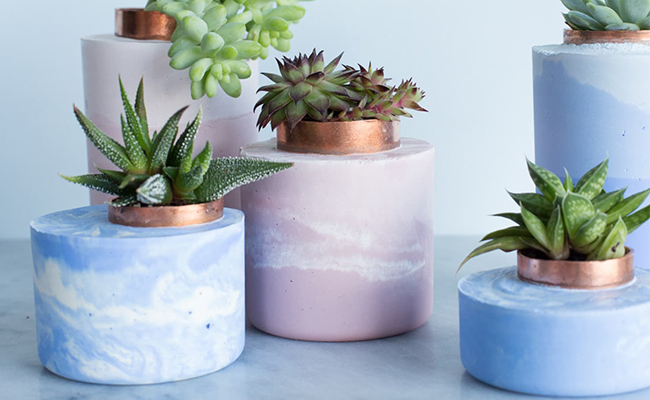 Decorated Planters