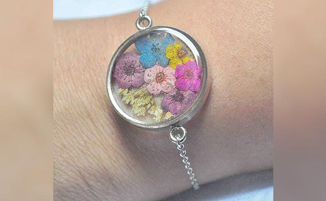Fossilized Flower Jewellery