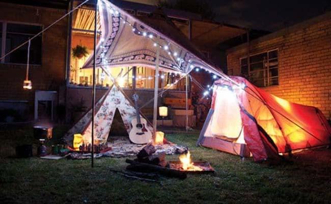 Go Camping in Your Garden